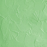 Structural plaster on wall - green Royalty Free Stock Images