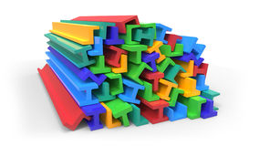 Structural plastic shapes Royalty Free Stock Photos