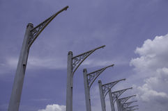 Structural Steel Banner Poles Royalty Free Stock Photography
