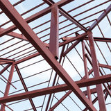 Structural steel beam on roof of building residential Royalty Free Stock Images