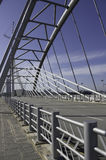 Structural steel bridge and railing Royalty Free Stock Photos