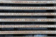 Structural steel for building foundations Royalty Free Stock Image