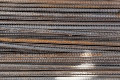 Structural steel for concrete construction. As background or texture Stock Photography