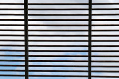 Structural steel cross stripe construction for roof Royalty Free Stock Photos