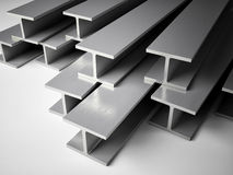 Structural steel. 3d image of Structural steel Royalty Free Stock Images