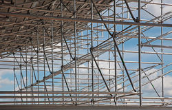 Structural steel framework Royalty Free Stock Photo
