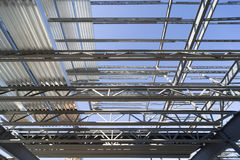 Structural steel roof Stock Photos