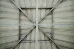 Structural steel roof Stock Image