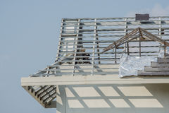 Structural steel roof using steel frames Stock Photos