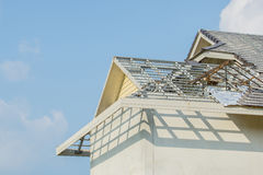 Structural steel roof using steel frames Royalty Free Stock Image