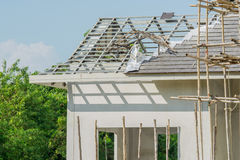 Structural steel roof using steel frames Royalty Free Stock Photos