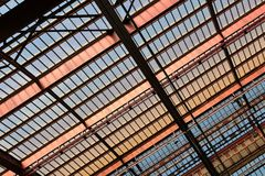 Structural Steel Roof Stock Photo