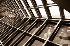 Structural steel. Structure of the building roof Royalty Free Stock Image