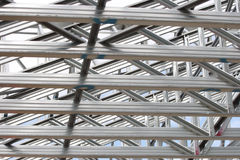 Structural steelwork details. Steel girder details. A construction industry pattern Royalty Free Stock Photography