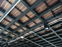 Structural. Structure indoor and wood floor Royalty Free Stock Images