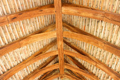 Structural wood roof Royalty Free Stock Images