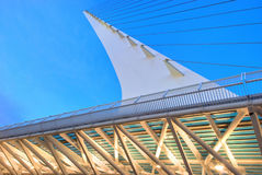 Structure 7 de pont en cadran solaire Photos libres de droits