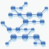 Structure of abstract molecule. Stock Image