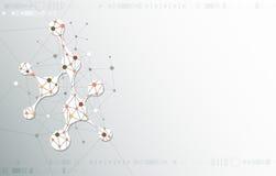 Structure abstraite de molécule sur le fond gris-clair de couleur Photo libre de droits