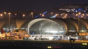 Structure airport By using a steel frame and glass. Stock Image