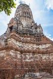 Structure ancient disign Wat Chai Wattanaram Stock Photos