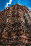 Structure ancient disign Wat Chai Wattanaram Royalty Free Stock Photography