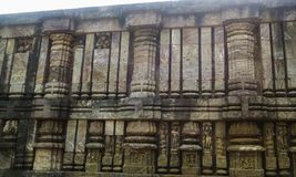 Structure in ancient Konark Temple Royalty Free Stock Photo