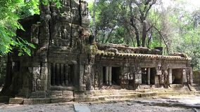 Structure in Angkor Thom temple complex, Cambodia stock video footage