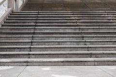 Structure architecturale étape-moderne de ciment Photo stock