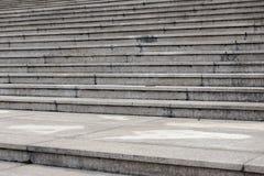 Structure architecturale étape-moderne de ciment Image libre de droits