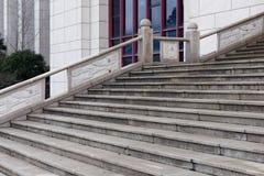 Structure architecturale étape-moderne de ciment Photographie stock libre de droits