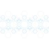 Structure bleue abstraite de molécule médical Photographie stock