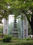 Structure bouddhiste au stationnement de Tapol, Séoul, Corée images libres de droits