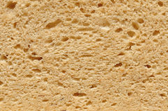 The structure of bread. A detail view of a slice of bread in top view Royalty Free Stock Photo