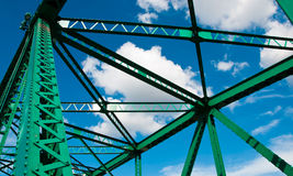 Structure bridge. Old structure bridge cross river Stock Photo