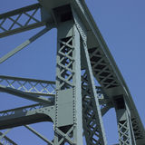 Structure of a bridge. With blue sky Royalty Free Stock Images