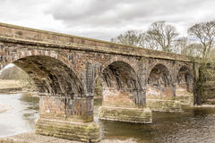 Structure, Bridge, Railway, River, Crossing Royalty Free Stock Photos