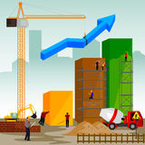 Structure building of bar graph. Vector illustration of structure building of bar graph Stock Photo