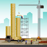 Structure building of coin. Vector illustration of structure building of coin Royalty Free Stock Photo