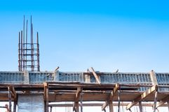 Structure of a Building under construction royalty free stock images