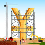Structure building of Yuan. Vector illustration of structure building of Yuan Royalty Free Stock Photography