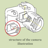 Structure of the camera illustration. Structure of the camera vector illustration. inside the photo stock illustration