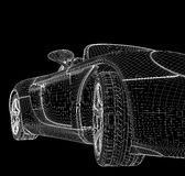Structure of the car. Structure of three-dimensional model of the car Royalty Free Stock Images