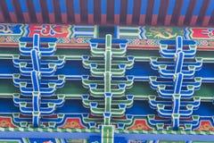 Structure chinoise de mortaise et de tenon Photographie stock libre de droits