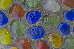 Structure - colorful glass stones Stock Photography