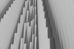 Structure consisting of hundreds of columns. 3d illustration of a structure consisting of hundreds of columns Stock Photography