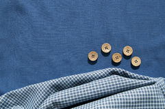 Structure of cotton fabric Stock Photos