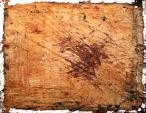 Structure of the cracked wooden board Stock Photography