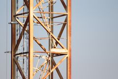 Structure of a crane for lifting weights royalty free stock photography