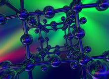 Structure cristalline lustrée Photos libres de droits